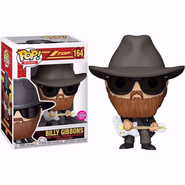 Funko Pop - Billy Gibbons (ZZ Top) 164  בובת בילי גיבונס זיזי טופ