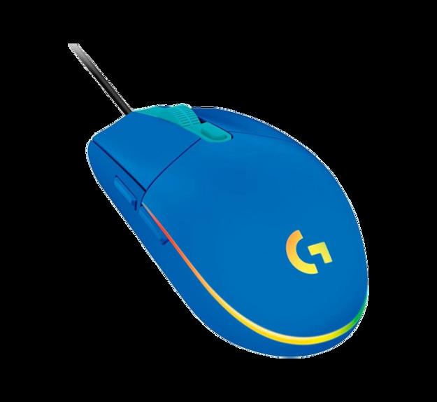 עכבר גיימינג כחול Logitech G102 LIGHTSYNC