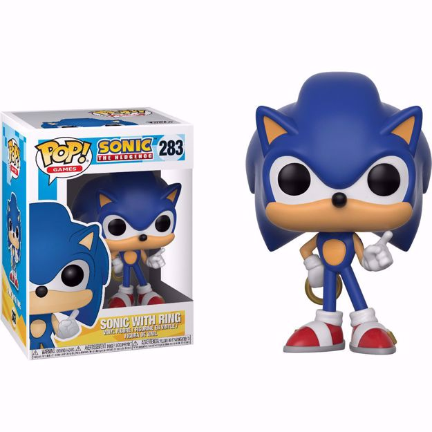 Funko Pop - Sonic With Ring  (Sonic) 283 בובת פופ סוניק