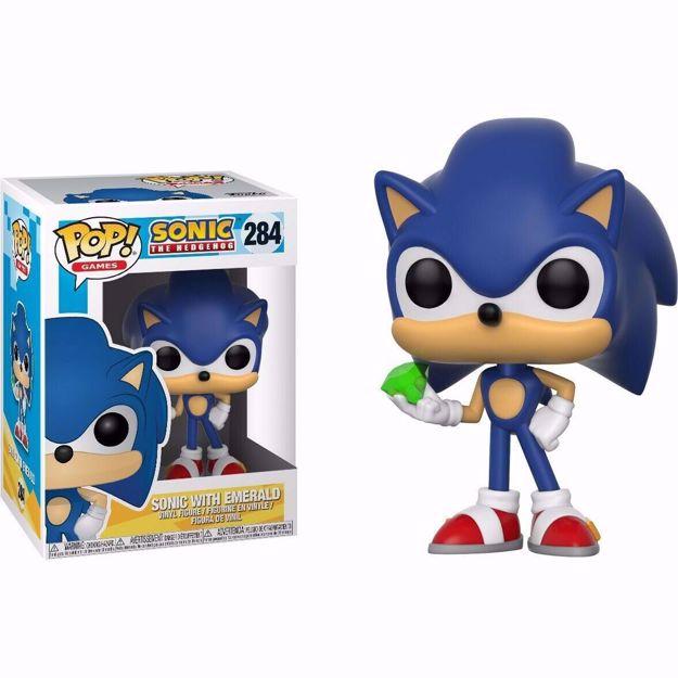 Funko Pop - Sonic With Emerald (Sonic) 284 בובת פופ סוניק