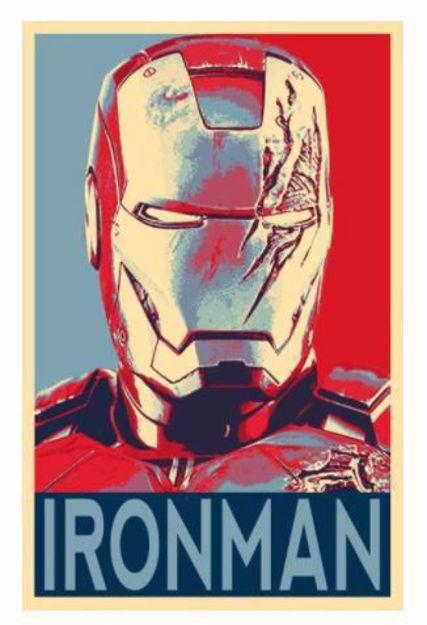 פוסטר קנבס איירון מן Canvas  Iron-Man