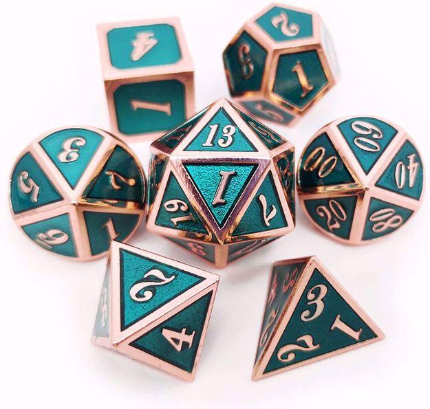 סט קוביות מתכת למג'יק/מבוכים ודרקונים Dnd/Magic Metal Dice Set